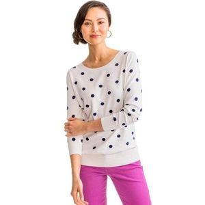 Southern Tide Rebecca Polka Dot Sweater, Size